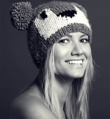 (LikClick Photography) Tags: girls people blackandwhite bw wool beauty face hat socks portraits canon hair studio photography sweater december warmth cloths beaitiful blancoinegro beautifulbw likclick femalblackandwhiteportrait