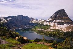 Hidden Lake (Phil's Pixels) Tags: mountains montana lakes scenic glaciernationalpark soe hiddenlake hikes loganpass bearhatmountain