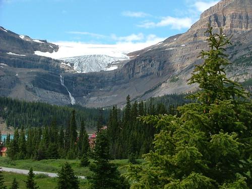 Bow Glacier and Bow Falls