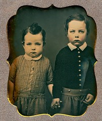Serious Little Brothers, 1/6th-Plate Daguerreotype, Circa 1850 (lisby1) Tags: portrait fashion century vintage children photography early 19thcentury 1800s victorian tintype ambrotype daguerreotype edwardian geneology 19th earlyphotography nineteenthcentury privatecollection