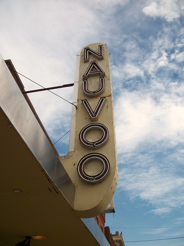 Nauvoo theater sign