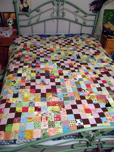 Scrappy quilt top finished today!