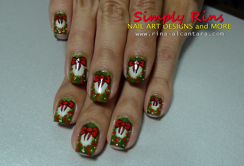 Christmas Nail Art Wreath 10