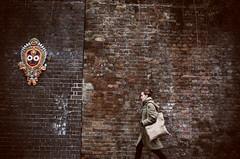Untitled by Anya B Photography (Anya B Photography) Tags: road christmas street xmas vacation muro london wall lady photography donna holidays december mask bricks tradition fotografia conceptual bricklane natale dicembre londra vacanza maschera liverpoolst turisti turism tradizioni sensethecity