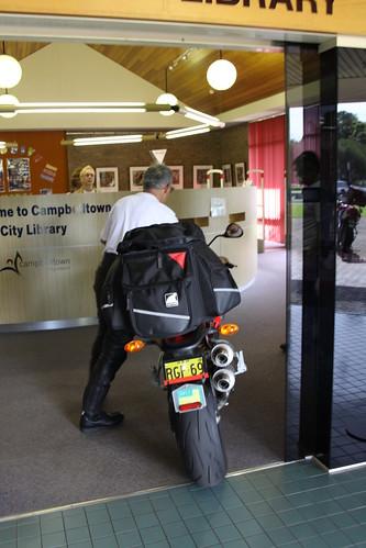 Plenty room for the Ducati