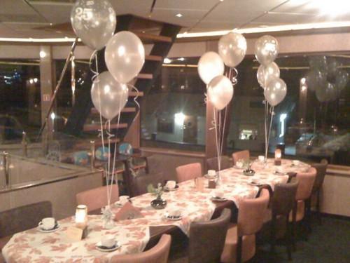 Tafeldecoratie 3ballonnen Fortuna Spijkenisse