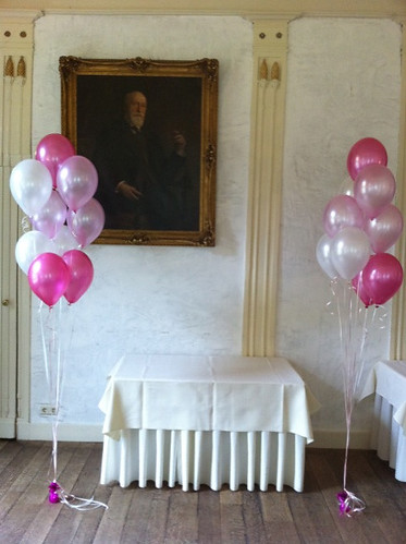 Tafeldecoratie 9ballonnen Kasteel van Rhoon