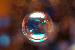 Bokeh Bubbles (ianstrain) Tags: reflection colors 50mm nikon colours bokeh bubbles clear bubble bokehbubbles