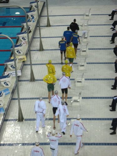 Swimmers Get Ready for Heats