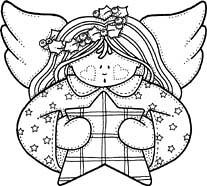 Feliz Natal / Happy Christmas ( Reino J Cheguei ) Tags: christmas tree natal angel paint pattern drawing rvore desenho anjo molde pintar painatal riscos reinojcheguei