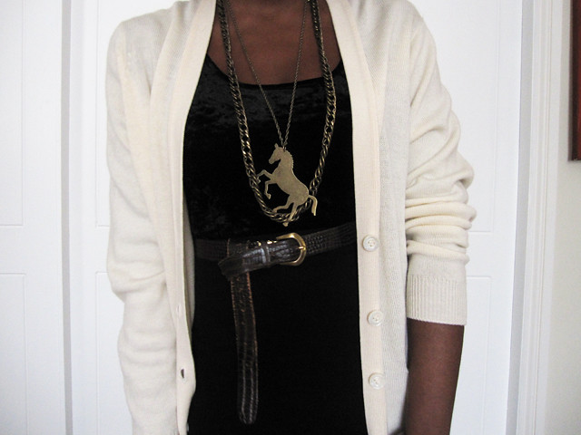 horse and chain necklace