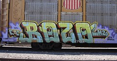 Bozo (BURQUENO) Tags: auto train graffiti albuquerque rack roller etc h2 freight gets bozo resa rax rtd holley igk fr8 asic