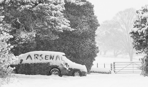 Arsenal in a snow storm