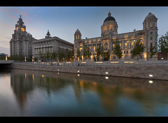 Graceful reflection before dark, after dark in comments! Explore frontpage (Ianmoran1970) Tags: blue reflection port liverpool canal grace explore frontpage cunard pierhead liverbuilding thethreegraces portofliverpool cunardbuilding explored ianmoran ianmoran1970