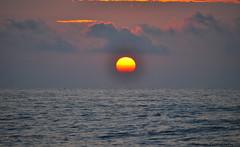 Half sun? (Bill Maksim Photography) Tags: sunset sun set ball fire waves atlantic outer rise banks maksim outter