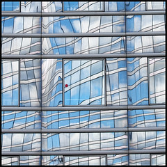 France - Paris - La Defense - Skyscraper Reflections 08 sq v2 (Darrell Godliman) Tags: travel blue red copyright paris france reflection building tourism architecture facade reflections mirror nikon frankreich europe squares eu ladefense reflected squareformat fireescape sq francia modernarchitecture offices allrightsreserved ladfense officeblock reddot escapehatch architecturalphotography rpubliquefranaise contemporaryarchitecture travelphotography bsquare businessdistrict abstracture instantfave omot travelphotographer flickrelite dgphotos darrellgodliman wwwdgphotoscouk architecturalphotographer d300s nikond300s dgphotosparis franceparisladefenseskyscraperreflections08sqv2dsc4455