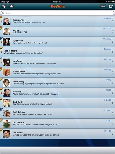 eyWire Adds to the iPad 'Magic' This Holiday Season with Free Texting (SMS) Globally Using a Real Phone Number