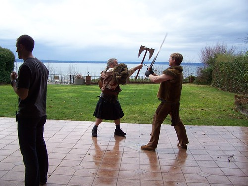 dec 112 Practicing wielding weapons