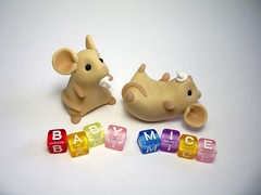 Baby Mice (Quernus Crafts) Tags: cute mouse mice polymerclay quernuscrafts