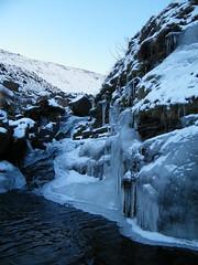 Ice Sculpture (Derbyshire Harrier) Tags: winter cold ice derbyshire kinder 2010 icesculpture edale grindsbrookclough uksnow