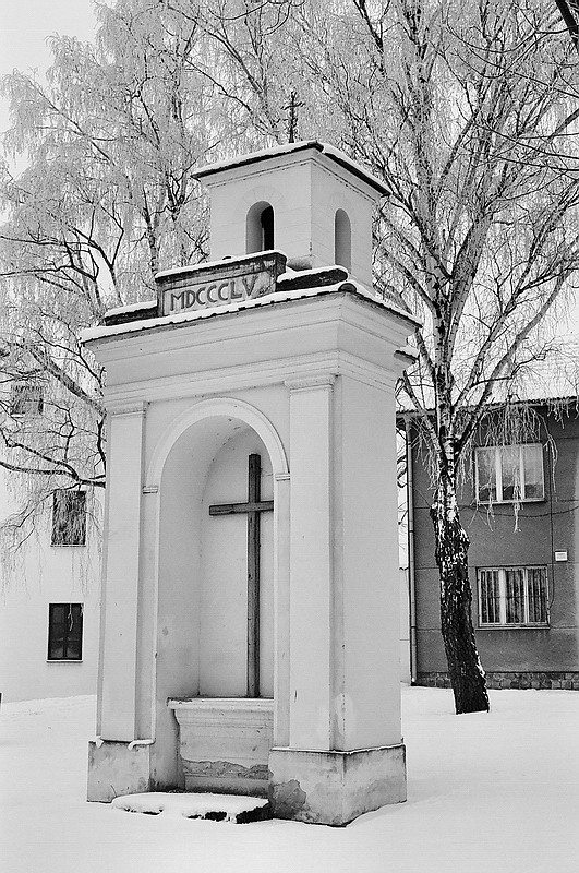 Wayside shrine in winter