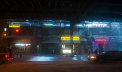 Seven Spark (damiancalvo) Tags: winter newyork blizzard 7train jacksonheights rooseveltavenue