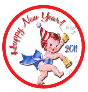 New Year 2011 Freebie Vintage Tag Example