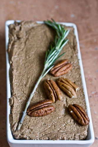 mushroom pate with rosemary and pecans