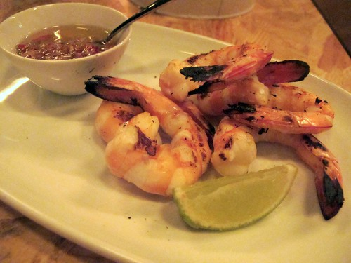 Grilled king prawns with sambal matah