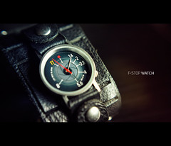 F-Stop Watch (isayx3) Tags: camera light macro 35mm screw nikon natural time watch filter f2 wrist studios d3 fstop aperature plainjoe isayx3 plainjoephotoblogcom