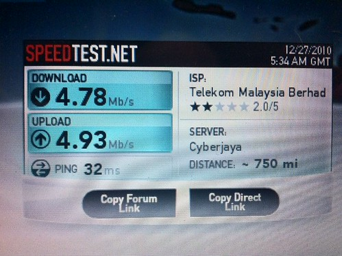 Unifi 5MB Speedtest