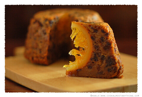 hidden orange christmas pudding© by Haalo