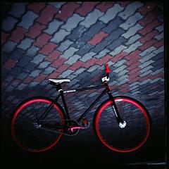 photography goes well with cycling, try it. (19/77) Tags: slr film bicycle malaysia fixie fixedgear 1977 negativescan infamous kiev88 mediumfromat kodakektacolorpro160 autaut canoscan8800f arsat80mmf28 myasin