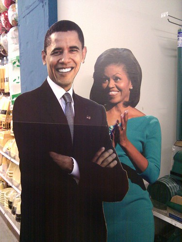 The Obamas, Hangin' at the party shop!