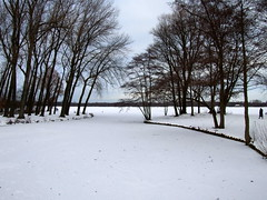 Kralingse Plas (sloebertje) Tags: sunset snow ice netherlands rotterdam kralingseplas