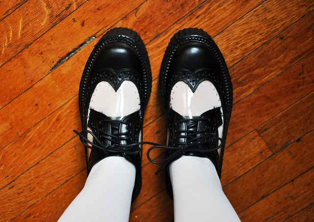 new shoes: prim and proper