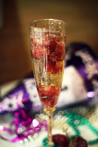 grapes and champagne