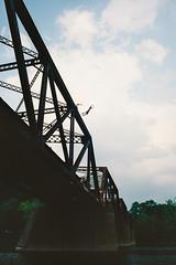 Buttz Jump (imprint777) Tags: summer film river real jump suicide negative delaware bridgejumping trainbridge canont70 buttzville