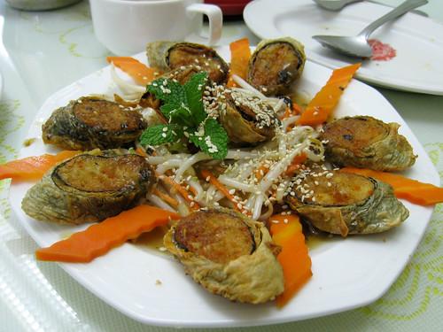 Golden Tofu Seaweed Rolls w/ Plum Sauce