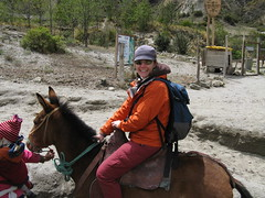 Meg on Her Donkey, Quilotoa