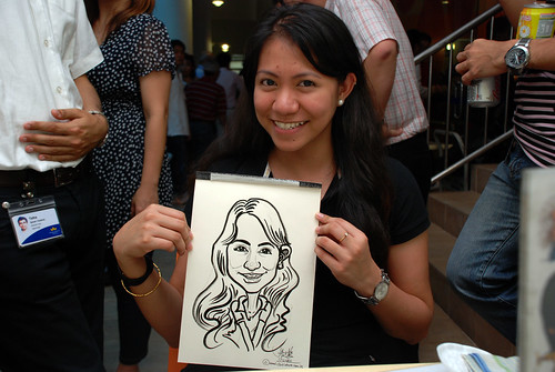 Caricature live sketching for BAT White Christmas Party 2010 - 34
