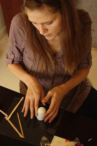 Maria sculpting 1