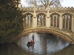 River Cam (lynnlin) Tags: uk cambridge people college saint river boat cam united kingdom johns ep1 1442mm
