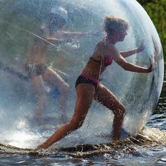 Water Walking Ball (Timo Vehvilinen) Tags: water suomi finland scout vesi evo scouting leiri canonef70200mmf4l partio kilke finnjamboree waterwalkinball
