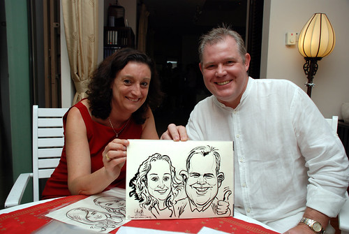 Caricature live sketching for private Christmas Party 2010 - 12