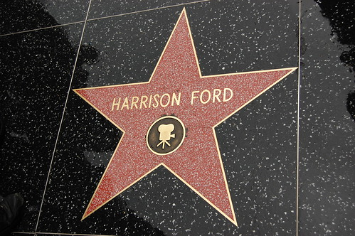 Harrison Ford's Star on the Hollywood Walk of Fame.