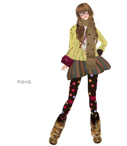 ][AV][skirt flare border green[AV][skirt flare border green