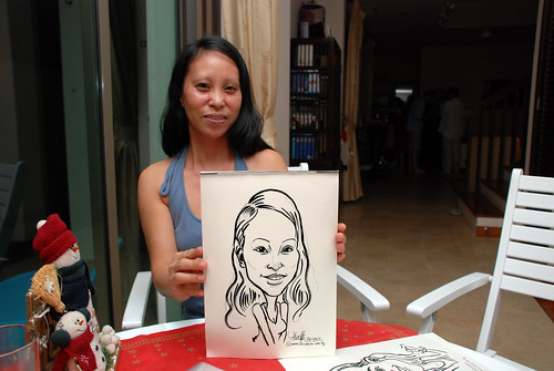 Caricature live sketching for private Christmas Party 2010 - 14