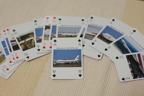 〈JAL 747family〉メモリアルトランプ