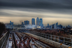 The O2 and Canary Wharf (D.Amvrazis (aka Stoxasths)) Tags: london canon landscape cityscape o2 vip cannon handheld canarywharf hdr photodiary urbanlandscape wwh 500d pontoondock canon500d project365 365days cannon500d 1855mmis awardtree hdrcreativeshots cannonhdr chrismas2010